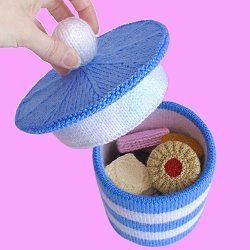 Knitted Barrel of Biscuits