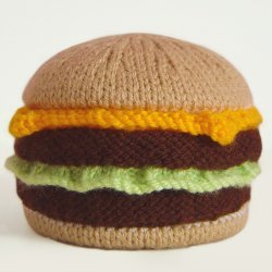 Knitted Cheeseburger Purse