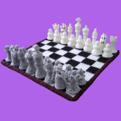 Knitted Chess Board