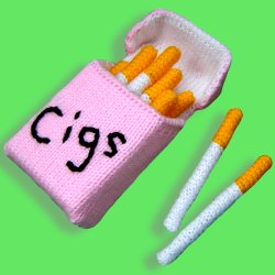 Knitted Cigarettes & Packet
