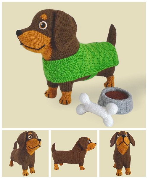 Knitted Dachshund Puppy Pictures