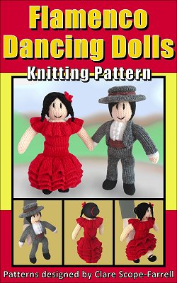 Flamenco Dancing Dolls Knitting Pattern Cover