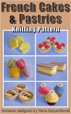 Knitted French Cakes & Pastries Pattern Cover