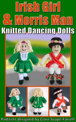 Irish Girl and Morris Man Knitted Dancing Dolls Pattern Cover