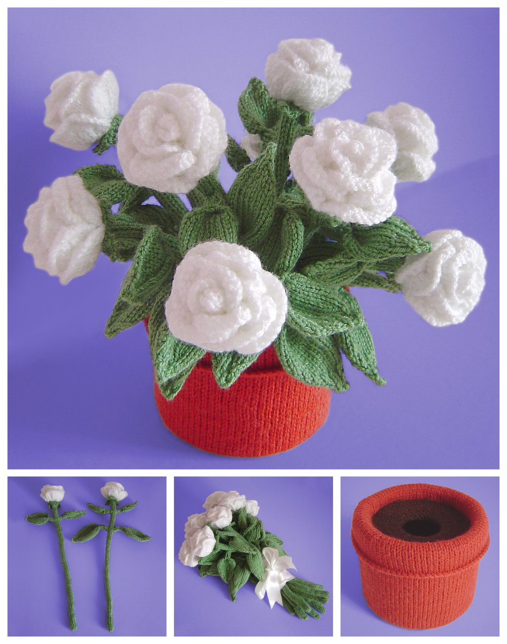 Knitted Bouquet and Houseplant