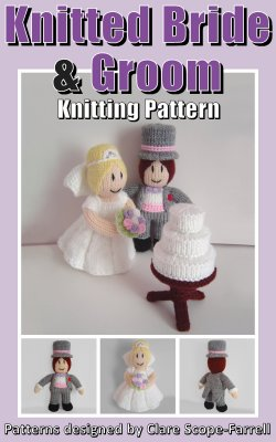 Knitted Bride and Groom Pattern Cover