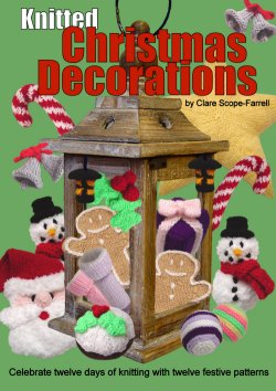 Knitted Christmas Decorations Booklet Cover