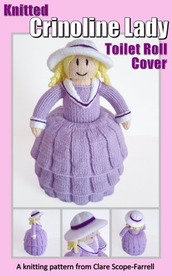 Knitted Crinoline Lady Toilet Roll Cover