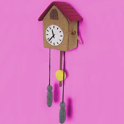 Knitted Cuckoo Clock