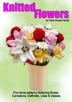 Knitted Flowers Booklet Cover