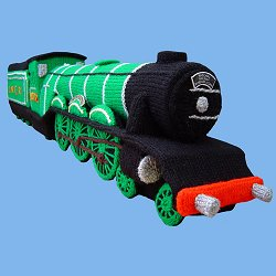 Knitted Flying Scotsman