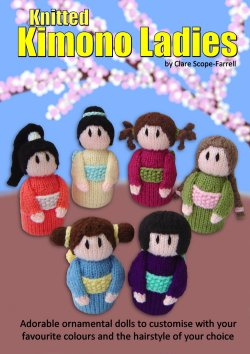 Knitted Kimono Ladies Booklet Cover