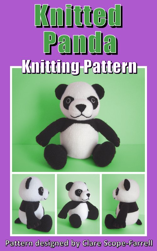 Knitted Panda Pattern Cover
