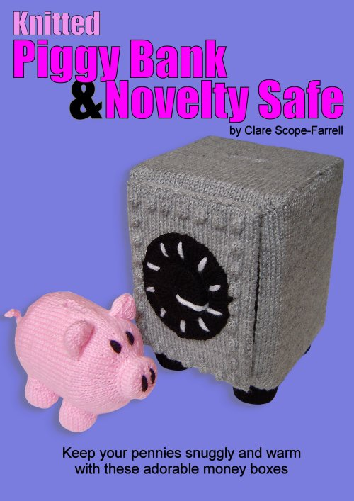 Knitted Piggy Bank & Novelty Safe Booklet Cover