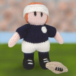 Knitted Rugby Player