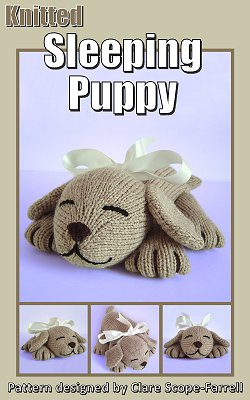 Knitted Sleeping Puppy Pattern Cover