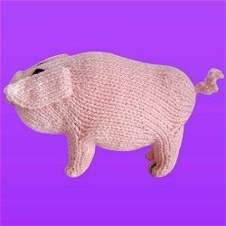 Lady Petunia, the prize-winning knitted pig
