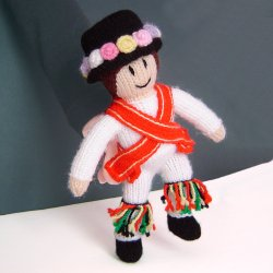 Morris Man Knitted Dancing Doll