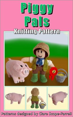 Piggy Pals Knitting Pattern Cover