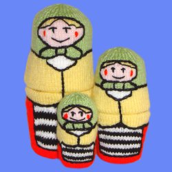 Knitted Russian Style Stacking Dolls