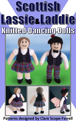 Scottish Lassie and Laddie Knitted Dancing Dolls Pattern Cover