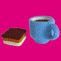 Knitted Shortbread with Espresso Coffee
