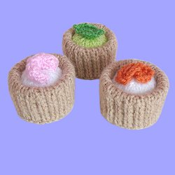 Knitted Vol-au-Vents